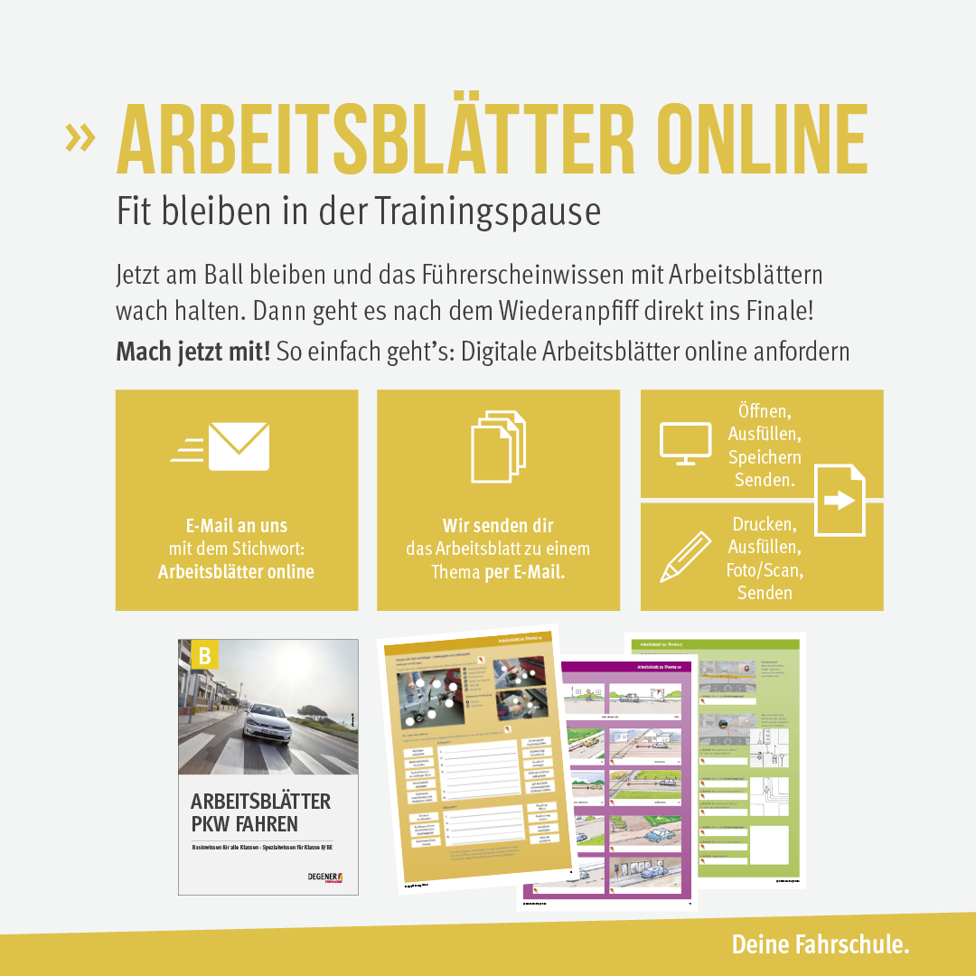 "DEGENER Newsfeed   Arbeitsblätter gehen ""online"""