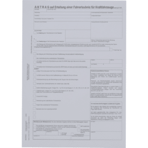 Fahrerlaubnis-Antrag, DIN A4 (Bayern)-0