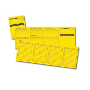 Schülerkarte 8 Seiten, DIN A7, 100 Stück gebändelt-0