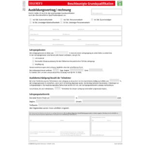 """Ausbildungsvertrag """"beschleunigte Grundqualifikation""""-0"""
