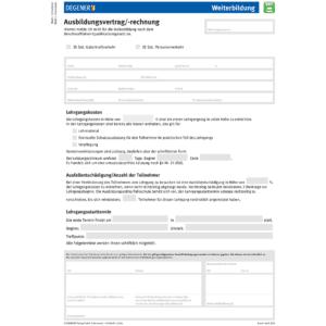 """Ausbildungsvertrag """"Weiterbildung""""-0"""