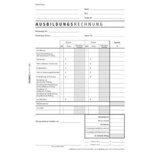 Rechnungsblock für 2 Ausbildungsklassen-0