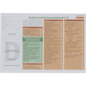 Ausbildungsdiagrammkarten Klasse D-0
