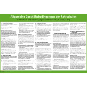 Allgemeine Geschäftsbedingungen der Fahrschulen DIN A3, Papersafe-0