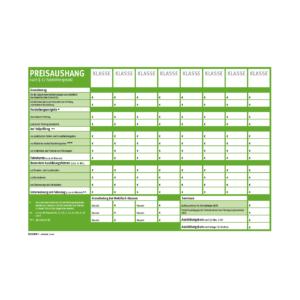 Preisaushang DIN A3, Papersafe mit einklebbaren Symbolen-0