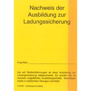 """""""Lasi-Pass"""" – Der Nachweis für Ladungssicherungsschulungen-0"""