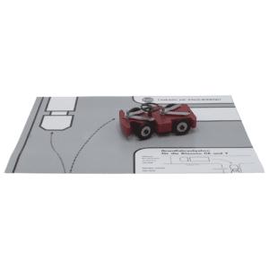 PeDi-Lenkauto mit Einzelradblockierung mit Arbeitsunterlage-0