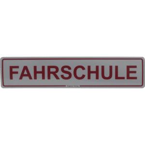 """Magnetschild """"Fahrschule"""" 500 x 110 mm, reflektierend-0"""