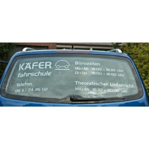 Heckscheibenschild Limousine mit indiv. Werbung-0