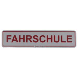 """Magnetschild """"FAHRSCHULE"""" 350x80 mm, reflektierend-0"""