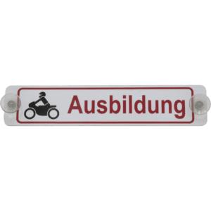 """Heckscheibenschild """"Motorrad-Ausbildung"""" 390 x 80 x 2 mm-0"""