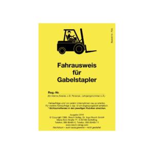 Fahrausweis für Gabelstapler (10 Stück)-0