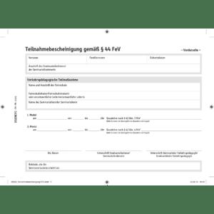 Teilnahmebescheinigung FES, Block mit 12 Stück-0