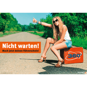 """Poster """"Nicht warten! Mach jetzt deinen Führerschein!""""-0"""