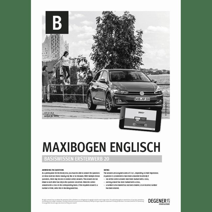 Maxi Test Pkw Fahren Englisch Degener Verlag Kompetenz Für