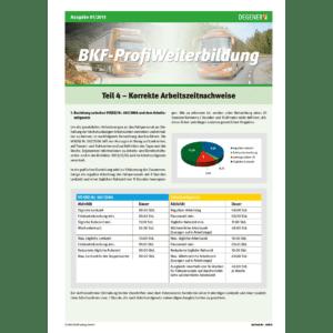 BKF-ProfiWeiterbildung Teil 4 - Korrekte Arbeitszeitnachweise