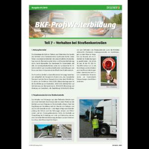 BKF-ProfiWeiterbildung Teil 7 - Verhalten bei Straßenkontrollen