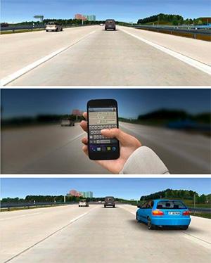 Ablenkung im Straßenverkehr