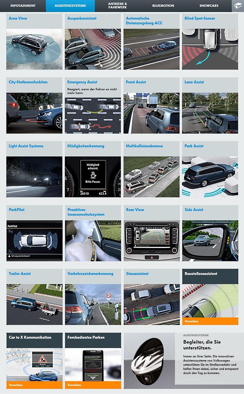 VW-Fahrerassistenz-Systeme