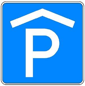 Zeichen 314-50 nach StVO, Parkhaus, Parkgarage.