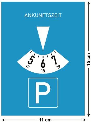 Es kann nur eine geben: Die Parkscheibe nach StVO (Bild 318)