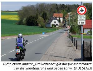 Umweltzone-Motorrad