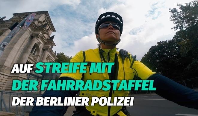 Auf Streife mit der Fahrradstaffel der Berliner Polizei