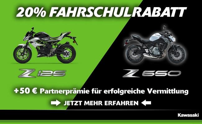 Kawasaki - 20% Rabatt für Fahrschulen