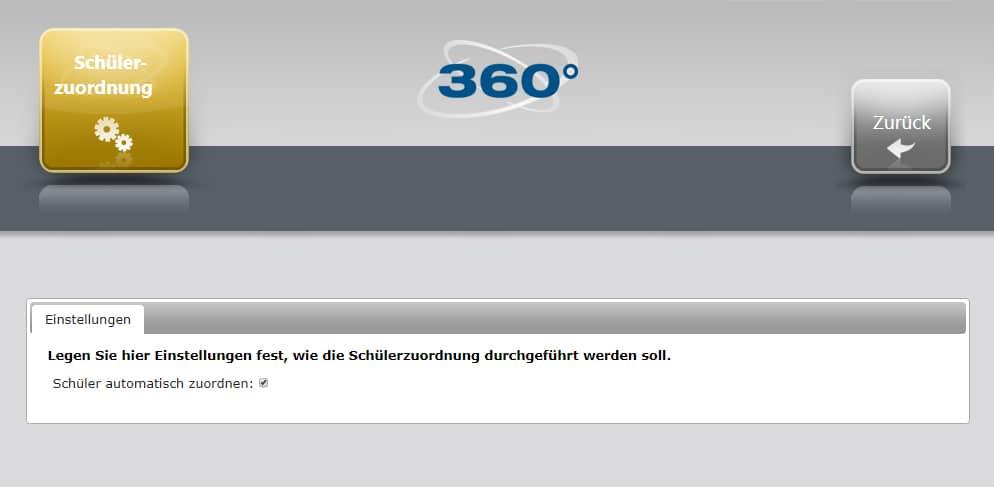 360° online-Verwaltung - Automatische Schülerzuordnung