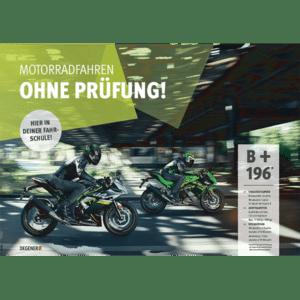 81392-B196-Poster-A1-Motorrad-fahren-ohne-Pruefung