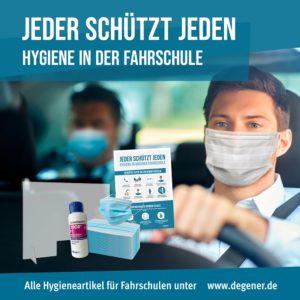 Jeder schützt jeden - Hygiene in der Fahrschule