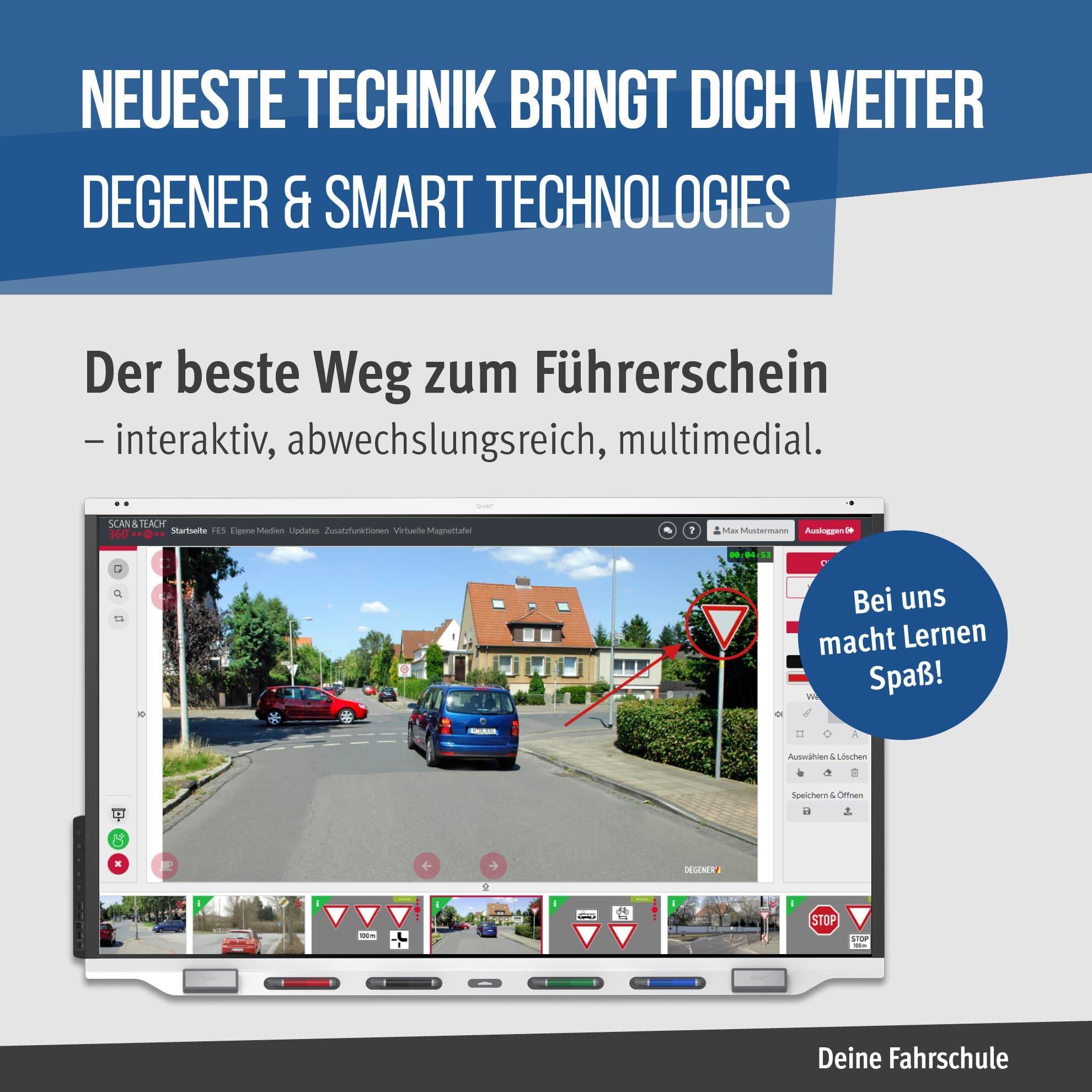 SMART Display-Fahrschulen