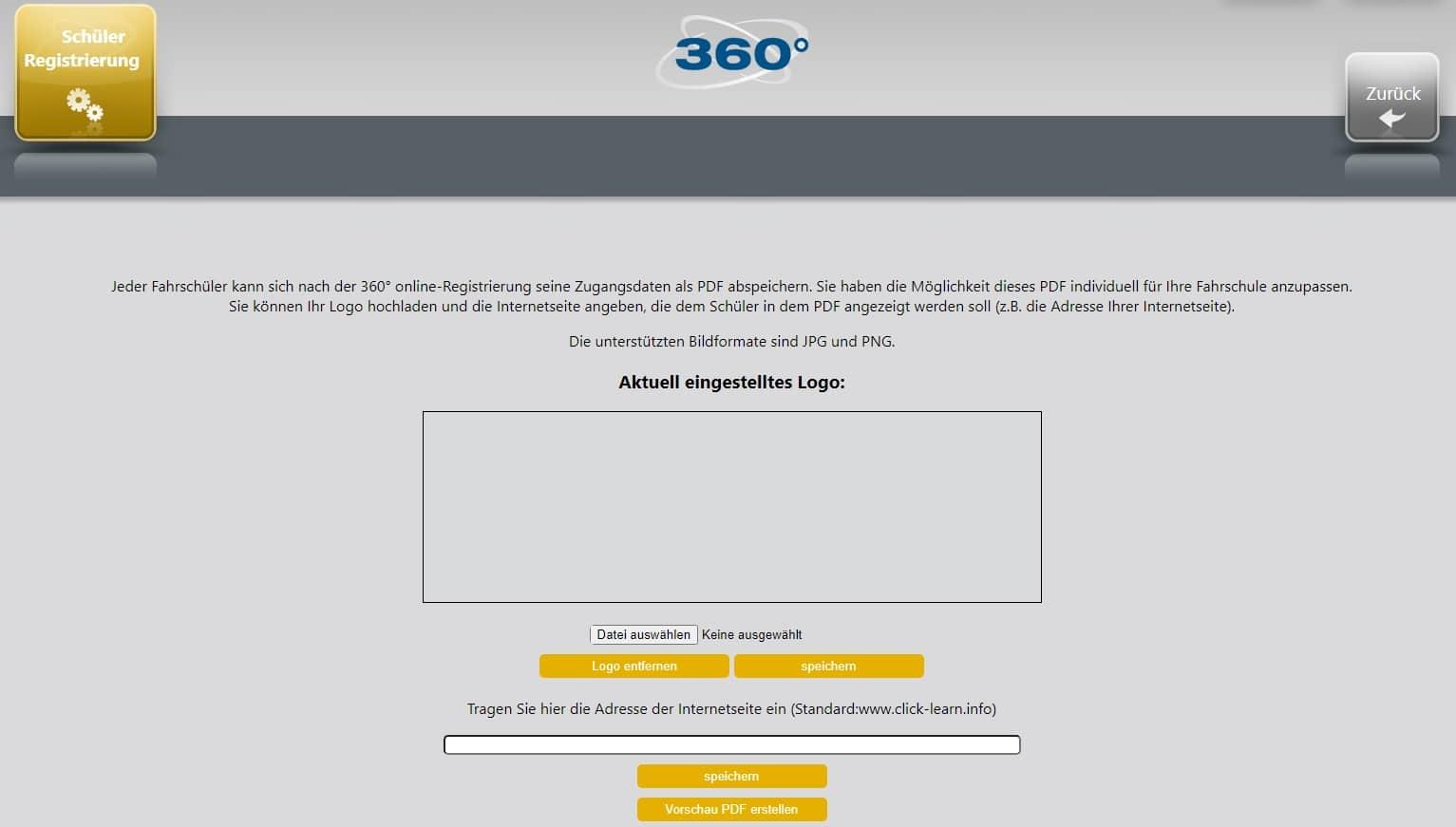 360-online-Verwaltung-Schueler-Registrierung