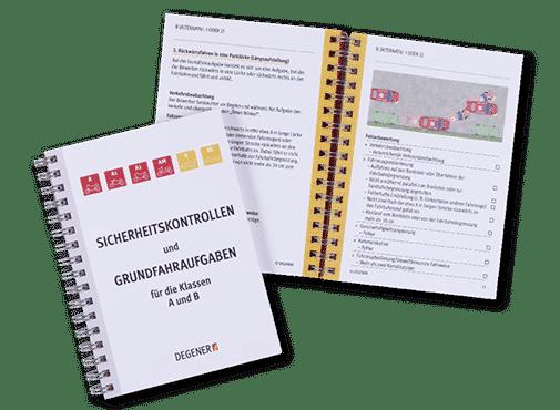 Kontrollkärtchen-Heft Klasse A und B im Pocket-Format